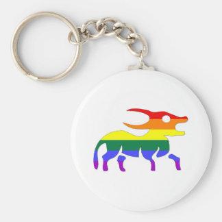 GLBT Pride:  Taurus, April 21 - May 21 Basic Round Button Key Ring