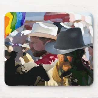 GLBT Rodeo Pride Mouse Pad