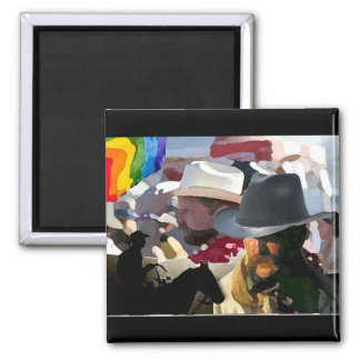 GLBT Rodeo Pride Square Magnet