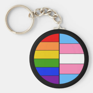 GLBT Solidarity Keychain (Button Style)