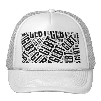 GLBT WORD PATTERN -.png Mesh Hat