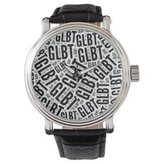 GLBT WORD PATTERN -.png Wristwatch