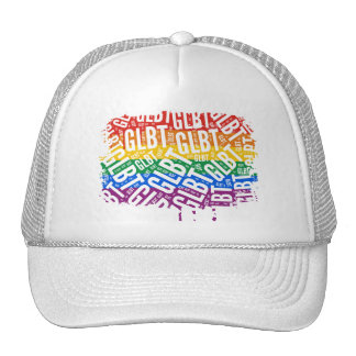 GLBT WORD PATTERN WHITE -.png Mesh Hats