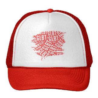 GLBT WORD PATTERN WHITE -.png Mesh Hat