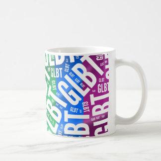 GLBT WORD PATTERN WHITE -.png Coffee Mug