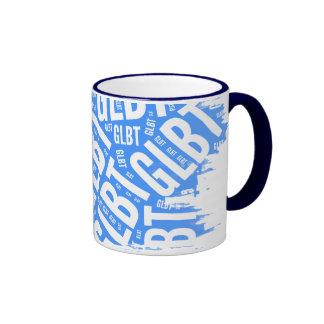 GLBT WORD PATTERN WHITE -.png Coffee Mugs