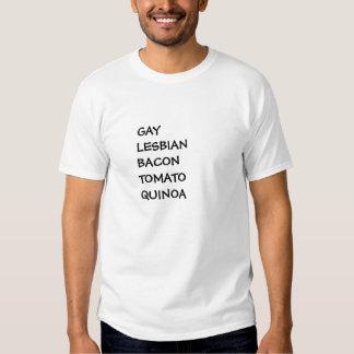 GLBTQ: gay lesbian bacon tomato quinoa S to 6XL T Shirts