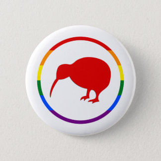 GLBTQ Pride-Kiwi & New Zealand 6 Cm Round Badge