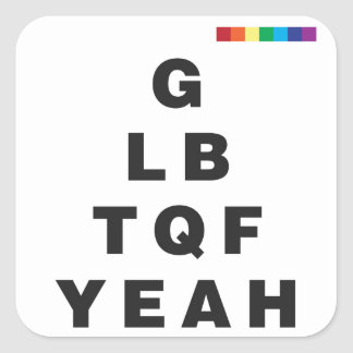 GLBTQF Yeah! Square Sticker