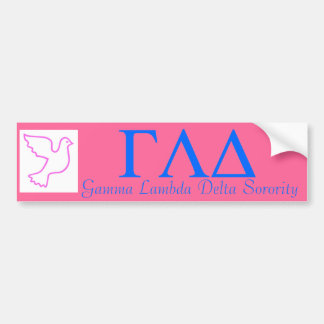 GLD Bumpersticker-Pink Peace Dove Bumper Stickers
