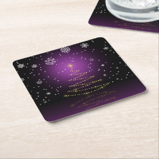 Gleamy and Snowy Christmas - Paper Coaster