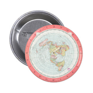 """Gleason's """"NEW STANDARD MAP OF THE WORLD"""" Button"""