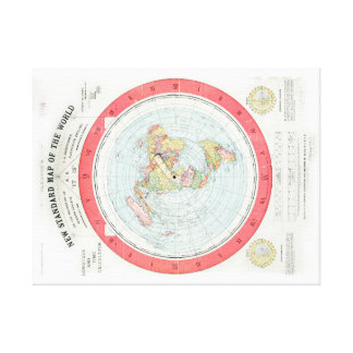Gleason's NEW STANDARD MAP OF THE WORLD - Canvas Canvas Print