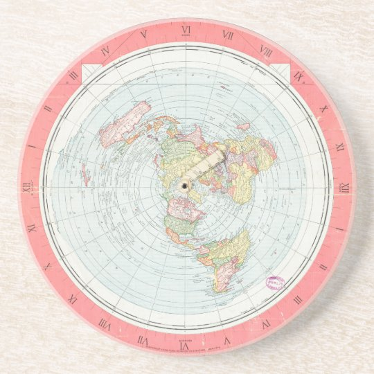 """Gleason's """"NEW STANDARD MAP OF THE WORLD"""" Coasters"""