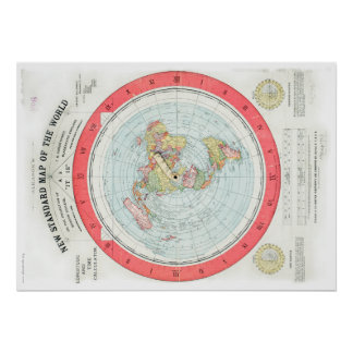 Gleason's NEW STANDARD MAP OF THE WORLD - High Rez Poster