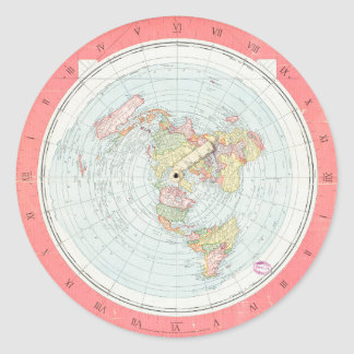 Gleason's 'NEW STANDARD MAP OF THE WORLD' Stickers