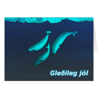 Gleðileg Jól - Narwhal Card