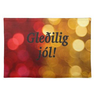 Gleðilig jól! Merry Christmas in Faroese bf Cloth Place Mat