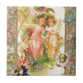 Glee - Angels and Flowers Small Square Tile