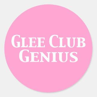 Glee Club Genius Gifts Round Sticker