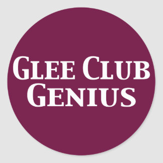 Glee Club Genius Gifts Stickers