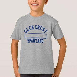 Glen Crest Gym Uniform - Blue Logo T-Shirt