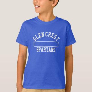 Glen Crest Gym Uniform - White Logo T-Shirt