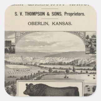 Glen Galloway Ranch, Oberlin, Kansas Square Sticker