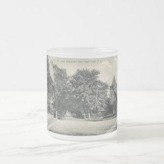 Glen Ridge, New Jersey 1909 Vintage Frosted Glass Mug