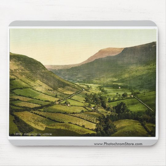 Glenariff. Co. Antrim, Ireland classic Photochrom Mouse Pad