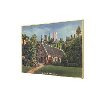Glencairn, Replica of Annie Laurie's Church Canvas Print