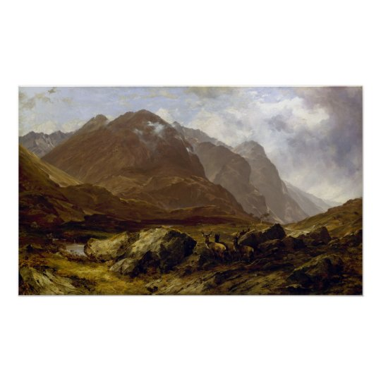 Glencoe by Horatio McCulloch Poster