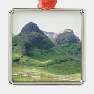 Glencoe , Scotland Silver-Colored Square Decoration