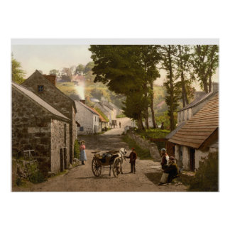 Glencoe Village, County Antrim, Northern Ireland Poster
