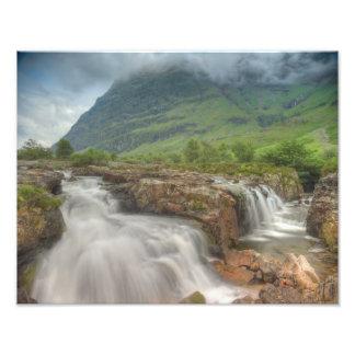 Glencoe Waterfall Photo Print