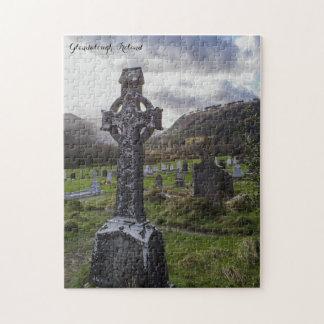 Glendalough Ireland Celtic Cross Jigsaw Puzzle