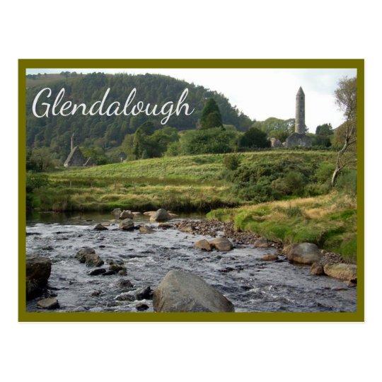 Glendalough Ruins with text Postcard