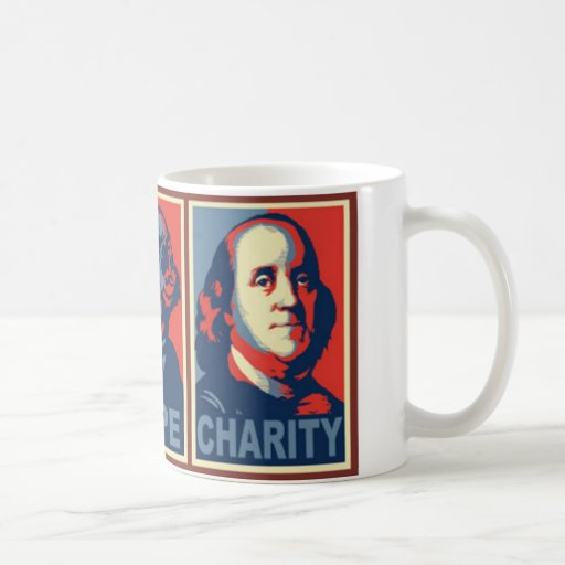 Glenn Beck faith hope charity mug