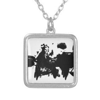 Glenn Gould - Pianist Square Pendant Necklace