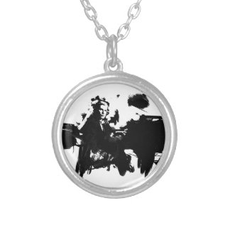 Glenn Gould - Pianist Round Pendant Necklace