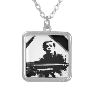 Glenn Gould Square Pendant Necklace