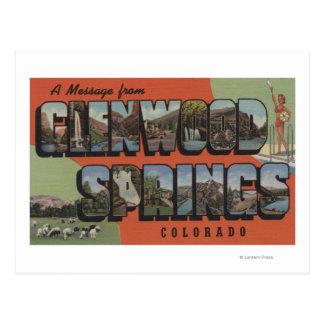 Glenwood Springs, Colorado - Large Letter Scenes 2 Postcard