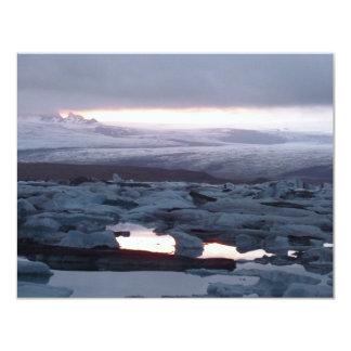 Gletscherlagune Island 11 Cm X 14 Cm Invitation Card
