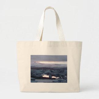 Gletscherlagune Island Canvas Bag