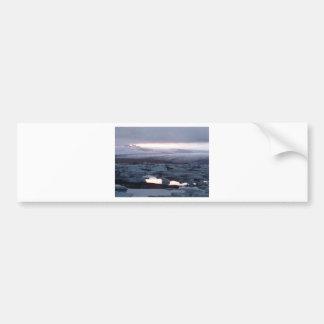 Gletscherlagune Island Bumper Sticker