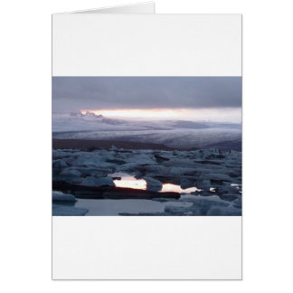 Gletscherlagune Island Greeting Card