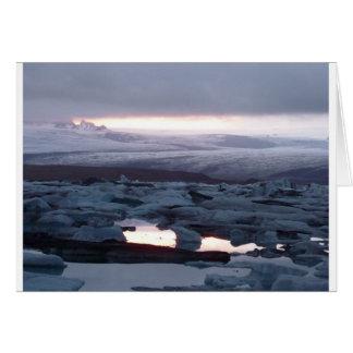 Gletscherlagune Island Greeting Card