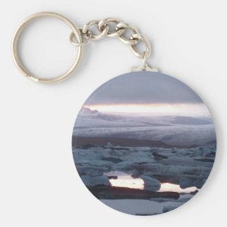 Gletscherlagune Island Key Chains