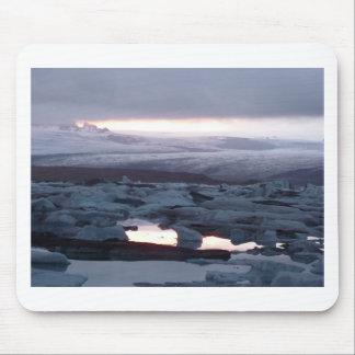 Gletscherlagune Island Mouse Pad