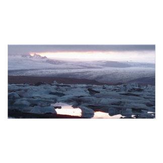 Gletscherlagune Island Photo Greeting Card